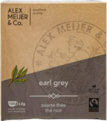 Earl Grey Grote displaydoos 100 Theezakjes 2 gram Alex Meijer