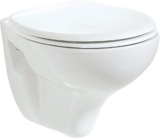 Afbeelding van Douche Concurrent Toiletpot Hangend DC00320 49,5x36x33,5cm Wandcloset Keramiek Diepspoel Nano Coating EasyClean Glans Wit met Bidet en Softclose Toiletbril