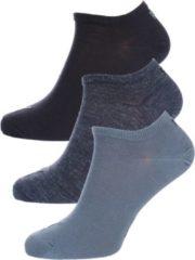 Blauwe Hom PUMA Sokken - SNEAKER PLAIN 3 paar - Unisex - Maat 39 denim blue