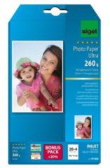 Witte Inkjet Ultra Fotopapier 260grs 24 Vel Eindformaat 10x15cm,