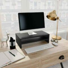 VidaXL Monitorstandaard 42x24x13 cm spaanplaat zwart