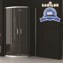 Douchecabine Sanilux Noémie kwartrond met 2 schuifdeuren 90x90cm