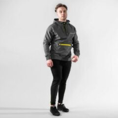 Bodyfit Body&Fit Hero Tech Hoodie - Trui met Capuchon en Rits - Hoodie Heren - Maat: M - Grijs