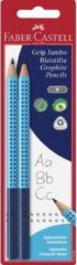 Rode Faber-Castell Potloodset 2st. Jumbo met grip in blister.Hardheid B. FC-111993