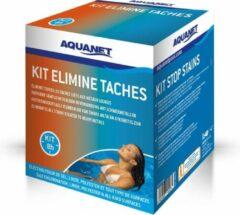 Aquanet kit voor verwijderen vlekken van zware metalenop zwembadliners
