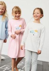 Hessnatur Kinder Pyjama Mädchen aus Bio-Baumwolle – grün – Größe 146/152