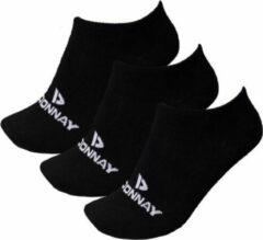 Donnay - Sneakersokken - 3 Paar - Zwart - 43-46