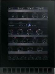 Zwarte Temptech SOMX60DRB- greeploze wijnkoelkast - 46 flessen