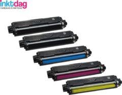 Cyane Inktdag toner cartridge voor Brother TN241 BK x 2, TN245 C x 1, TN245M x 1, TN245Y x 1 Multipack (5 stuks ) geschikt voor Brother DCP-9015 CDW , DCP-9020 CDW Brother HL-3140 CW , HL-3150 CDW , HL-3170 CDW Brother MFC-9140 CDN, 9330 CDW, 9340 CDW