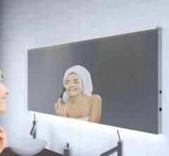 Grijze Designspiegels.nl Badkamerspiegel met LED verlichting, verwarming, sensor en dimfunctie 160x70 cm