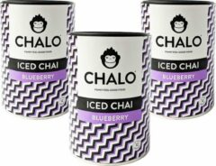 CHALO Iced Tea - Blueberry Iced Chai Pakket - Zwarte Assam thee - 3 x 300GR