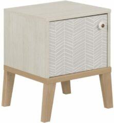 Gamillo Furniture Nachtkastje Alika 47 cm hoog in wit kastanjehout