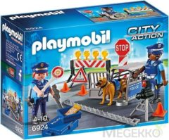 PLAYMOBIL City Action: Politie wegversperring (6924)