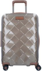 Beige Stratic Leather & More 4-Rollen Kabinentrolley 55 cm champagne