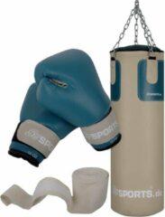 Beige ScSPORTS® Boksset - Bokszak 25 kg - Incl. bokshandschoenen en bandages - Volwassenen