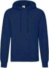 Fruit of the Loom capuchon sweater donkerblauw/navy voor volwassenen - Classic Hooded Sweat - Hoodie - Heren kleding 2XL (EU 56)