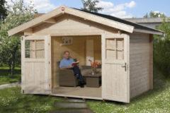 Weka tuinhuis Premium28 met luifel 60cm Gr.4 9,0m²