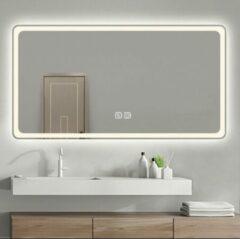 Transparante DimuluX Pegasi LED badkamerspiegel verwarmd