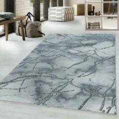NAXOS Impression Marmer Design Laagpolig Vloerkleed Grijs Zilver- 120x170 CM