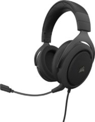 Zwarte Corsair HS50 Pro Stereo Gaming Headset 3.5mm Jack - Carbon (PS4/Xbox One/PC/Nintendo Switch/Mobile Devices)