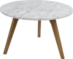 Naturelkleurige Zuiver White Stone L bijzettafel - 50 cm - Wit