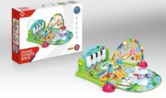FDBW Baby Speelkleed – Jungle   Speelkleed Met Boog   Baby Speelmat Gym   Interactief Speelkleed – Groen – 50x40x10cm