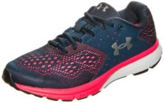 Rosa Charged Rebel Laufschuh Damen Under Armour true ink / penta pink / metallic silver