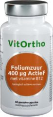 VitOrtho Foliumzuur 400 mcg Actief met vitamine B12 60 tabletten
