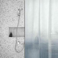 Roomture - douchegordijn - Shiny Squares - 180 x 200