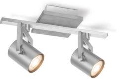 Home sweet home LED opbouwspot Concrete 2 lichts ↔ 31 cm - grijs