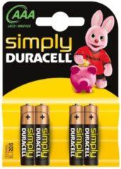 Duracell Simply MN2400 - Batterie 4 x AAA-Typ Alkalisch 002432