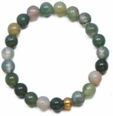 Yada Ring Kralen - Handgemaakt Natuursteen - Groen gemengd
