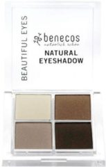 Bruine Benecos Vegan Oogschaduw Quattro - Coffee and Cream