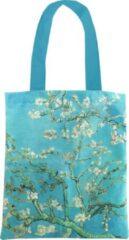 Turquoise LANZFELD Katoenen tas Luxe, Van Gogh, Amandelbloesem