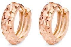 Roze New Bling 9NB-0082 - Zilveren oorringen - grootte 12x4 mm - rosékleurig
