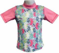 Roze Banz Banz Shirt Rash Met Korte Mouwen Junior Sea Horse 94 cm
