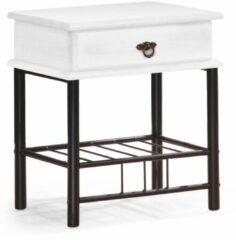 Home Style Nachtkastje Fiona 55 cm hoog in wit