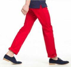 Asquith & Fox Rode katoenen lange broek heren 34-34