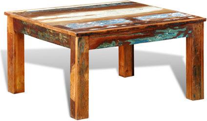 Afbeelding van Bruine 5 days Salontafel vierkant gerecycled hout