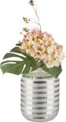 Relaxdays Deko Vase groß mit Streifen