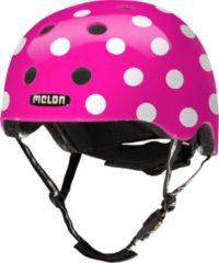 Melon Dotty Pink Fietshelm - Maat M-L (52-58cm) - Roze