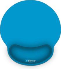 Muismat polssteun blauw - Sleevy