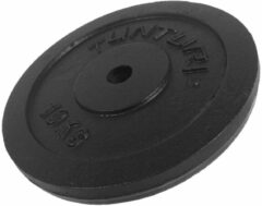 Zwarte Tunturi Halterschijf - Gietijzer - Gewichten - 10 kg