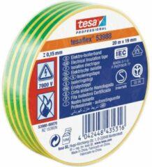Tesa 53988-00076-00 Isolatietape tesa 53988 Geel-groen (l x b) 20 m x 19 mm 1 rol/rollen