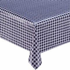 Blauwe MixMamas Mexicaans tafelzeil 3m bij 1,20m ruitje donkerblauw