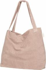 Roze Koeka corduroy mom bag Vik grey pink