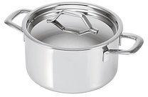 Zilveren Alva Chef Tri-ply Kookpan - met de Deksel - 20 cm