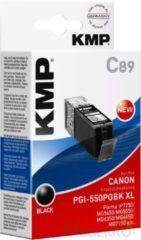 KMP Inkt vervangt Canon PGI-550BK, PGI-550BK XL Compatibel Zwart C89 1518,0001