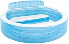Blauwe Intex Lounge Zwembad - 224 X 216 X 76 Cm