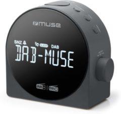 Zwarte Muse Electronics Muse M-185 CDB Stijlvolle DAB+ wekkerradio met groot display